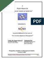 """Financial Analysis of Aplab Ltd."""