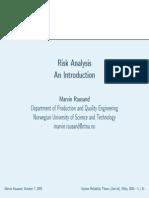 Risk Analysis types