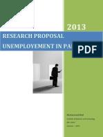 Research Proposal -Un Employement in pakistan