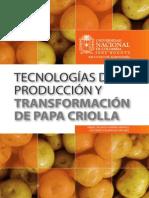 Tecnologías de producción y transformación de papa criolla
