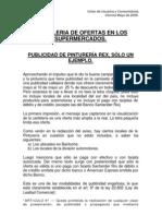 Informe Carteleria Ofertas Super e Hiper May09