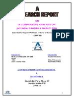 A Comparative Analysis of (Hyundai Santro & Maruti Zen544444