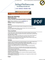 Molecular Pathology - Cesium Chloride (CsCl) Density Gradient Centrifugation