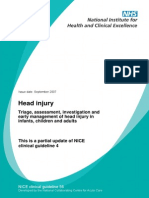Head Injury NICE Guideline