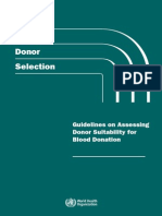 Who Guidelines Blood Donor Selection 2012