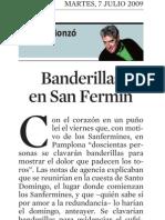 Quim Monzó. Banderillas en San Fermín