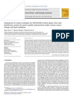 Comparison of control strategies for DSTATCOM in three-phase, four-wire distribution system for power quality improvement under various source