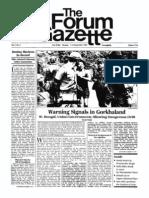 The Forum Gazette Vol. 1 No. 7 September 1-15, 1986