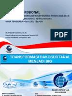 Paparan Deputi Bidang Informaasi Geospasial Badan Informasi Geospasial (BIG)