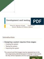 Development and Testing
