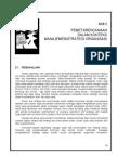 Bab 5 Pemetarencanaan Dalam Konteks Manajemen/Strategi Organisasi