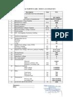 DATA SHEET of Transformers -100-300-500-1000 kVA