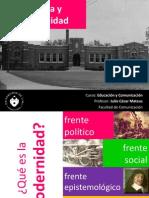 Escuela y Modernidad