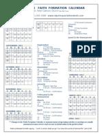 faith formation 2013 2014 calendar for the web