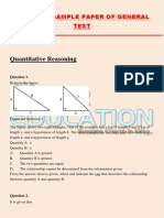 GRE Exam Sample Paper of General Test PDF
