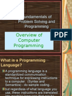 Overview of Computer Programming