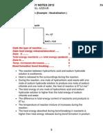 Exothermic Reaction SPM
