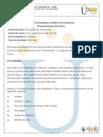 Reconocimiento Guia de Actividades y Rubrica de Evaluacion