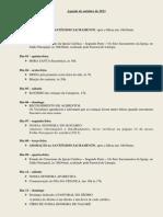 Agenda de Outubro de 2013