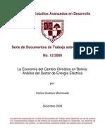 La Economía del Cambio Climatico en Bolivia. analisis del sector 2009