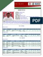 Singapore Domestic Cricket League Member profile_dattatray Nikam