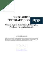 Spirit is Me Fr Eteriaetiologie (Glosaire Explicatif Des Causes...) Divers Auteurs