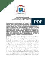 Carta Papa Francisco a La Orden Del Carmen
