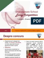 Essay Competition 2011- Prezentare Generala