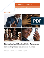 Demanding Good Governance in Africa