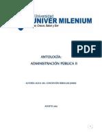 ANTOLOGÍA ADMINISTRACIÓN PÚBLICA II