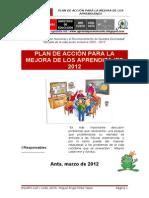 2012_Plan de Accion Mejora de Los Aprendizajes