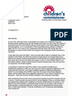 Letter to Mark Harper MP on New Family Migration Rules