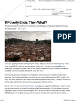 If Poverty Ends, Then What