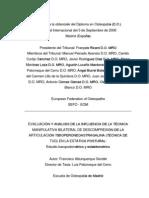 Evaluacion y Analisis Del Efecto de La Manipulacion de La Articulacion Tibioperoneoastragalina En