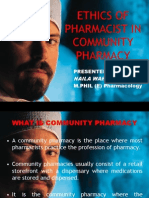 Ethics of Pharmacist in Community Pharmacy