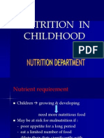 K.25 Nutrition in Childhood
