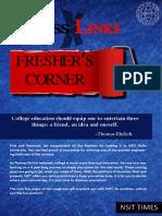 Crosslinks Freshers Corner