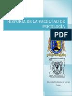 historia facultad de psicología