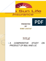 A Comparative Study on Product of Bsli And