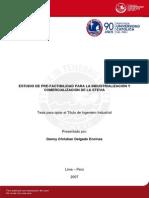 Delgado Danny Estudio Prefactibilidad Industrializacion Comercializacion Stevia