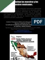 Por qué luchan los maestros mexicanos