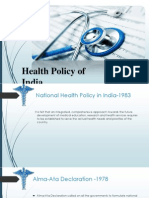 Healthcare Policy in India_Final