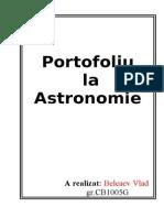 Portofoliu La Astronomie