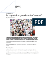 Is Population Growth Out of Control