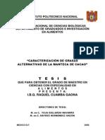 Caracterizacion de Grasas Alternativas de La Manteca de Cacao