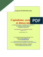 SCHUMPETER - Capitalisme Socialisme Et Democratie