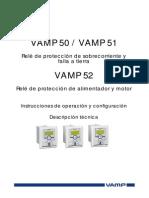 Rele de Sobrecorriente Vamp VM50