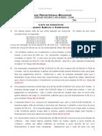 Lista de Exercicios Sobre Juros Simples e Compostos