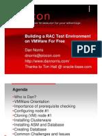 Oracle 10g RAC VMware Redhat RHEL4