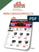 Garage Supplies Catalog